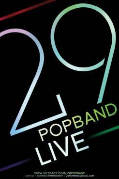 29 POPBAND - AFFICHE 40X60