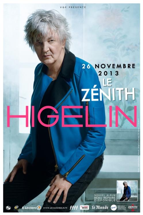 HIGELIN - AFFICHE ZENITH 2013